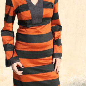 Φόρεμα Ριγέ Εκάι