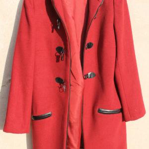 Παλτό Γυναικείο Κόκκινο Μοντγκόμερι