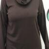 Καφέ μπλούζες γυναικείες μακριές